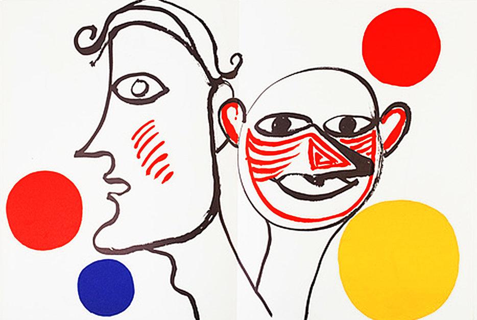 Alexander Calder, original Lithograph, DM31221d, Derriere le Miroir 1976 Printed 1976