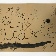 "Joan Miro Original Lithograph ""DM19151"" printed 1970"