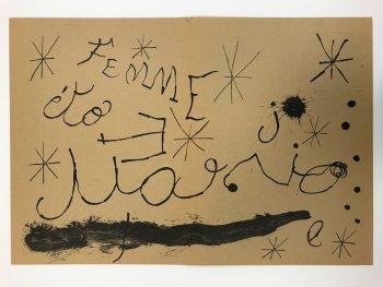 """Joan Miro Original Lithograph """"DM19151"""" printed 1970"""