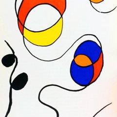 Calder original lithograph 56173, printed 1968