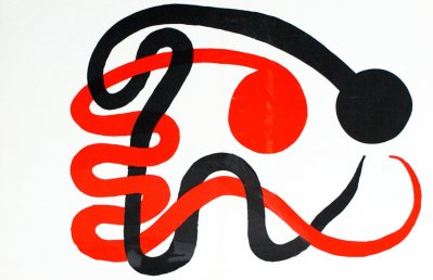 "Alexander Calder Lithograph ""DM49201"" printed 1973"