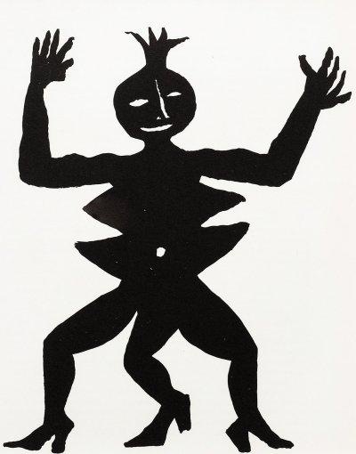 """Calder Original Lithograph """"DM07212"""" printed 1975"""