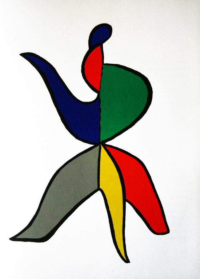 Alexander Calder, original Lithograph, DM01141, Derriere le Miroir 1963
