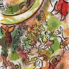 "Chagall Lithograph ""Frontispiece"" Ceiling of Paris opera 1966"