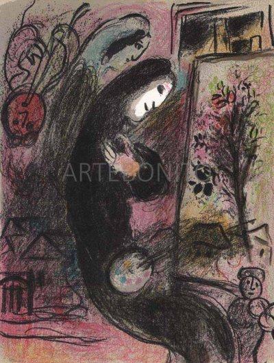"""Chagall """"Inspiration"""" Original Lithograph V2 Mourlot 1963"""