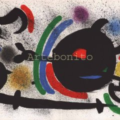 Joan Miro Original Lithograph V1-10d, Mourlot 1970,  Abstract, Surrealism