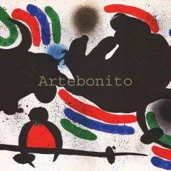 "Joan Miro Original Lithograph ""V1-4d"" Mourlot 1970"