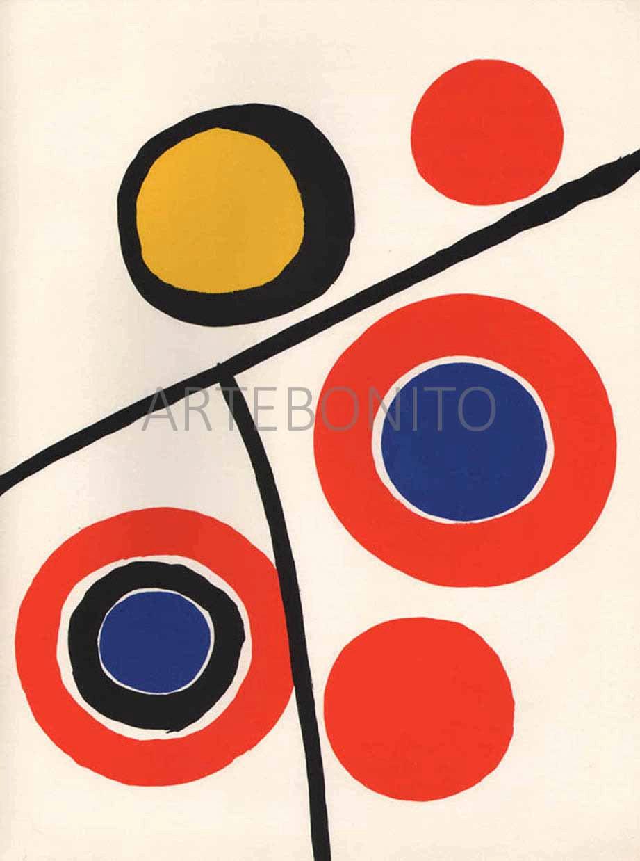 Alexander Calder Lithograph, DM48201, Derriere le Miroir 1973