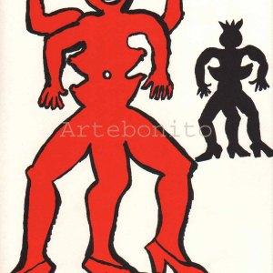 """Calder Original Lithograph DM14212"""" printed 1975"""
