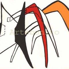 """Calder Original Lithograph size 15 x 22"""" """"DM39141"""" printed 1963"""