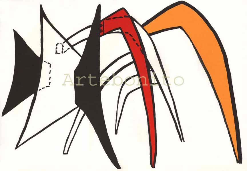 Alexander Calder, original Lithograph, DM39141, Derriere le Miroir 1963