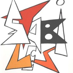 Calder Original Lithograph DM10141 printed 1963