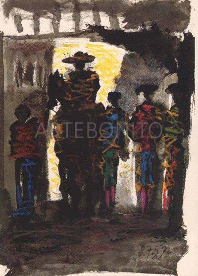 "Picasso ""Toros y toreros dated 8/7/59""-1961"