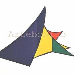 "Calder Original Lithograph ""DM26141"" Size 15 x 22 inch printed 1963"