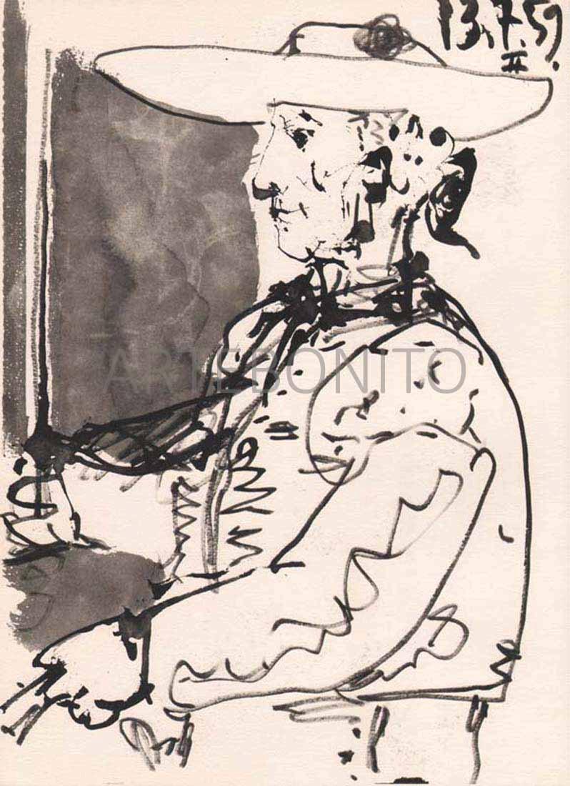 Pablo Picasso, Toros Y Toreros, N. 2 dated 13/7/59,Picasso Toros Y Toreros, No. 2 dated 13/7/59