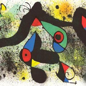 1974 Joan Miro signed Lithograph Ceramique 1