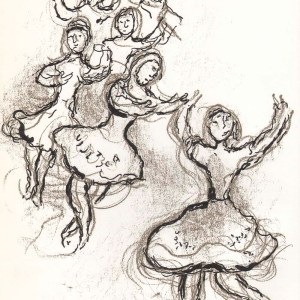 Marc Chagall Lithograph Sketch 2 for Paris opera