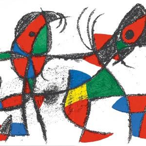 Joan Miro original lithograph, V2-10