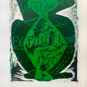 picasso Lithograph, Exposition Vallauris 1954