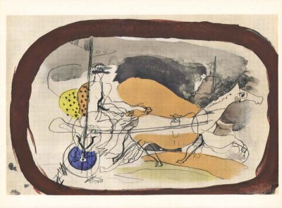 "Braque ""Horse in brown"" H12 Verve 1955 Carnet intimes"