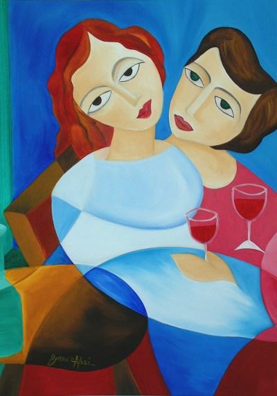 "Absi Grace, ""Green eyes red wine"""