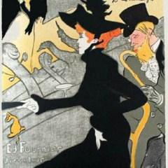 Toulouse Lautrec  Lithograph ,  Divan Japonais, Post-Impressionism,
