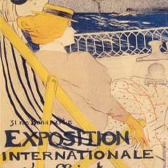 Toulouse Lithograph Lautrec 28, Salon des cent, Post-Impressionism,