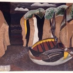 """Georges Braque """"La Falaises 1929"""" Lithograph 1968"""