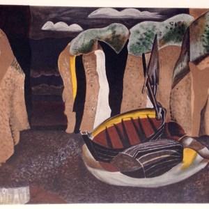 Braque Lithograph Les Falaises, Varengeville 1968