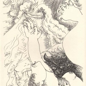 Masson Lithograph, Untitled N6-1Noise