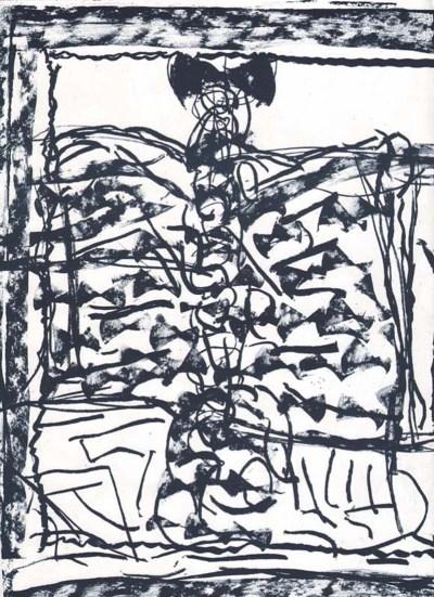 "Riopelle Jean-Paul Original Lithograph ""DM13232"""