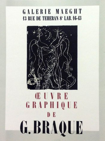 """Braque 2 """"Oeuvre Graphique"""" Mourlot 1959 Art in posters"""