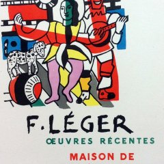 "Leger 37 ""Oeuvres recentes"" Art in posters printed 1959 by Mourlot"