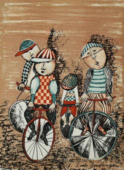 "Graciela Boulanger Original Lithograph ""Untitled 8"" signed in plate 1973"