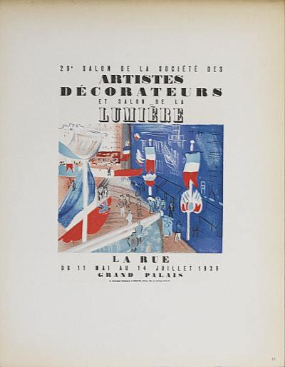 """Dufy 27 """"Salon des artistes decorateurs """" Mourlot - Art in posters"""