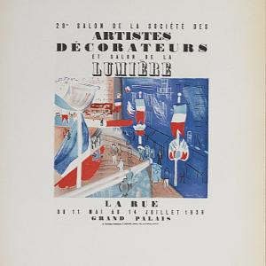 Dufy Lithograph 27, Salon des artistes, 1959