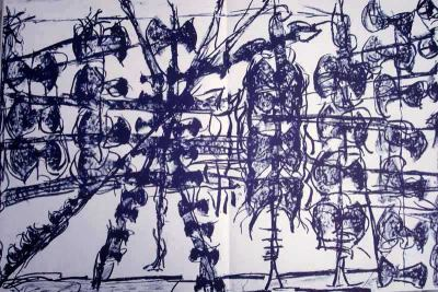 "Riopelle Jean-Paul Original Lithograph ""DM22232"""