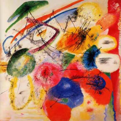 """Kandinsky """"The black Lines"""" L.E & numbered Giclee"""