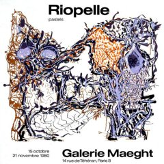 "Riopelle ""Pastel 1980"" Poster original Lithograph"