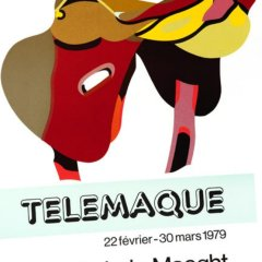 "Herve Telemaque""En selle"" Poster original Lithograph"