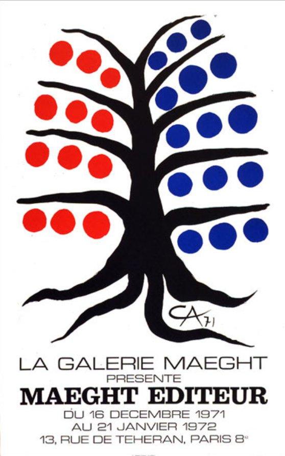 "Calder Poster Original Lithograph ""Maeght Editeurs 1971"""