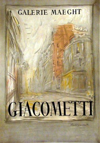 """Giacometti Poster Lithograph """"Rue d'Alesia"""""""