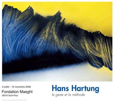 """Hartung Hans Poster """"le genre et la methode"""""""