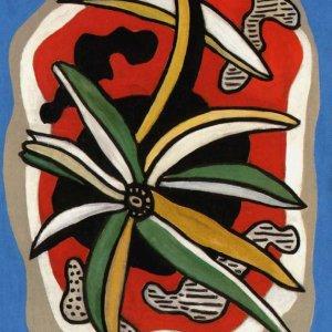 Leger, La Fleur Sur Fond Rouge, Numbered Giclee