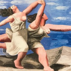 """Picasso Poster """"Deux femmes courant sur la plage"""""""