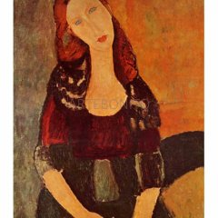 "Modigliani ""Portrait of Jeanne Hebuterne"" L.E & numbered Giclee"