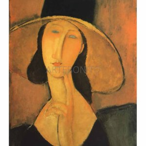 """Amedeo Modigliani """"woman with hat"""" L.E & numbered Giclee"""