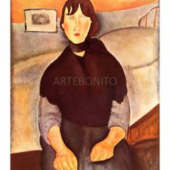 "Amedeo Modigliani  ""La fille du peuple"" L.E  & numbered Giclee"