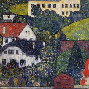 """Klimt """"Houses on Unterach"""" L.E & numbered Giclee"""