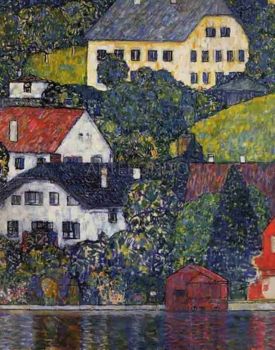 "Klimt ""Houses on Unterach"" L.E & numbered Giclee"